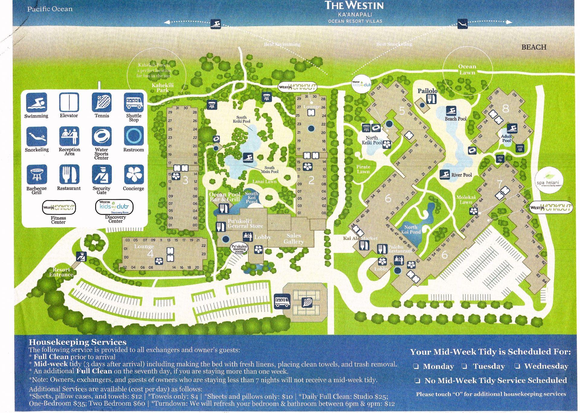 Honua Kai Floor Plan Westin Ka Anapali Ocean Resort Villa Hawaii Vacation